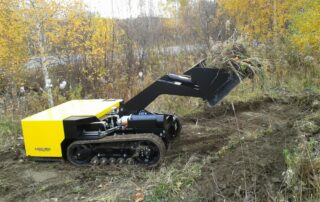 MINIDOZER 48 in the forest