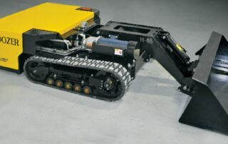 mini dozer 48 exposition concrete floor
