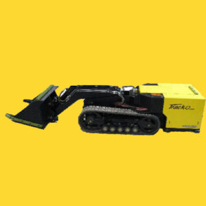 Track-O MINIDOZER in a yellow background